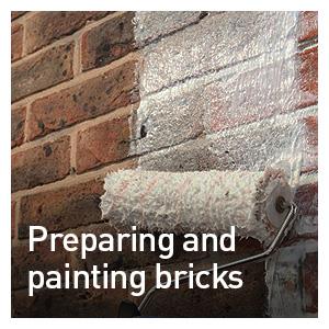 PREPARING AND PAINTING BRICKS