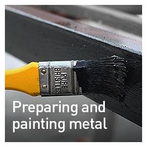 PREPARING AND PAINTING METAL