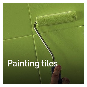 PREPARING AND PAINTING TILES